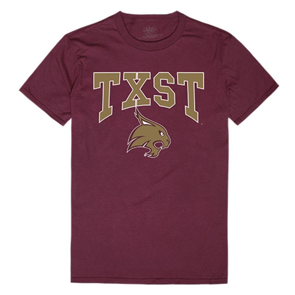 Texas State University Boko the Bobcat NCAA Athletic Tee T-Shirt