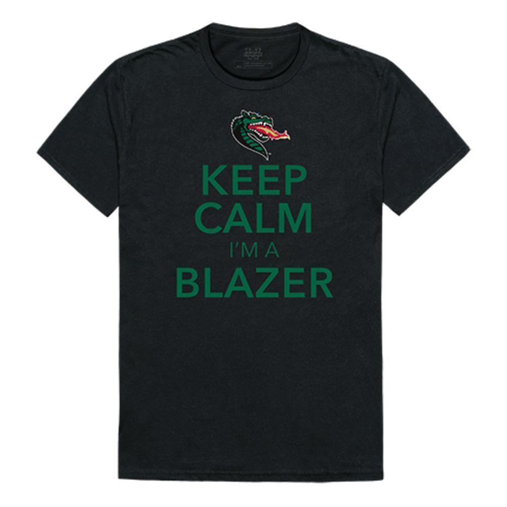 UAB University of Alabama at Birmingham Blazer NCAA Keep Calm Tee T-Shirt
