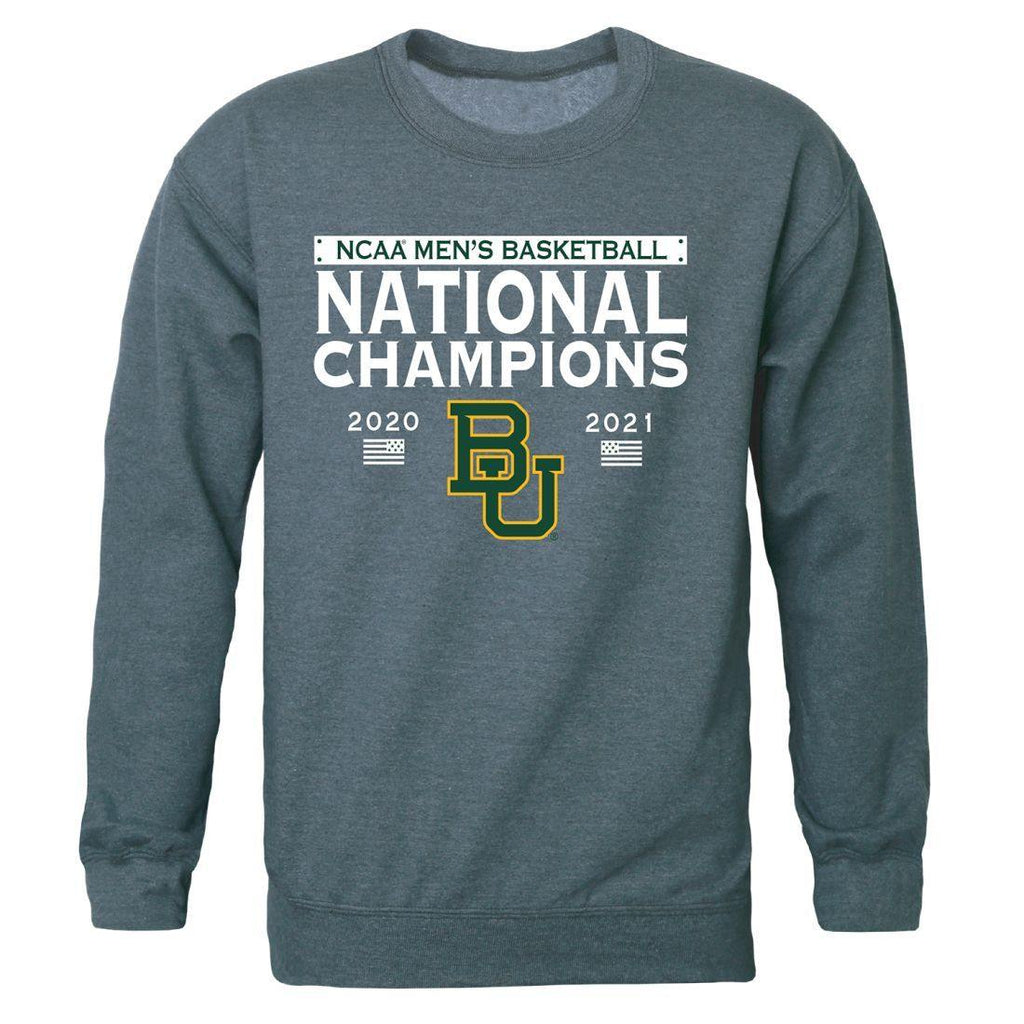 Baylor University Bears 2021 NCAA Mens Basketball Champions Crewneck Sweatshirt
