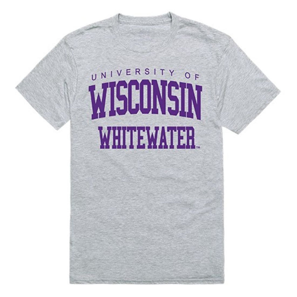 UWW University of Wisconsin Whitewater Mens Game Day Tee T-Shirt Heather Grey