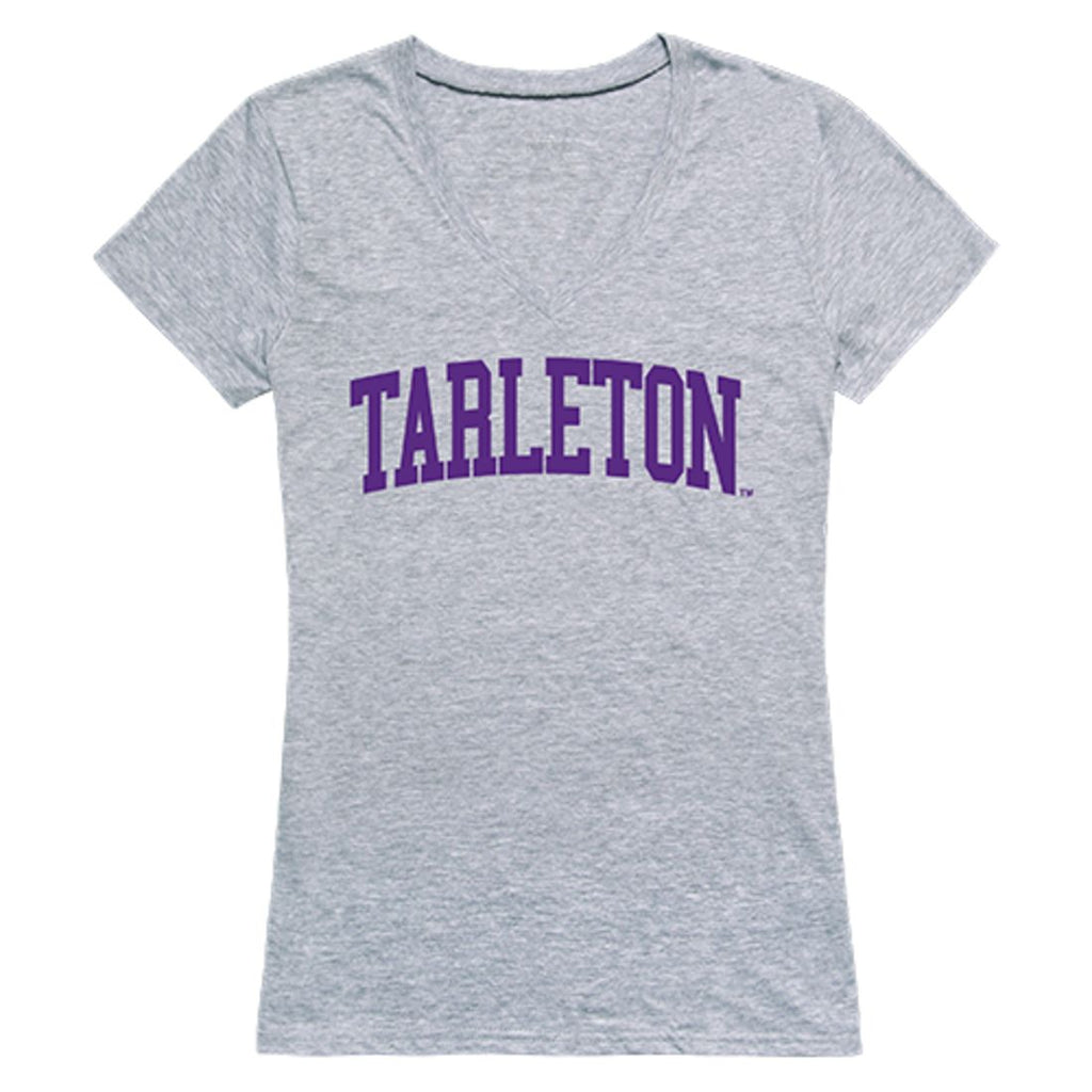 Tarleton State University Game Day Womens T-Shirt Heather Grey
