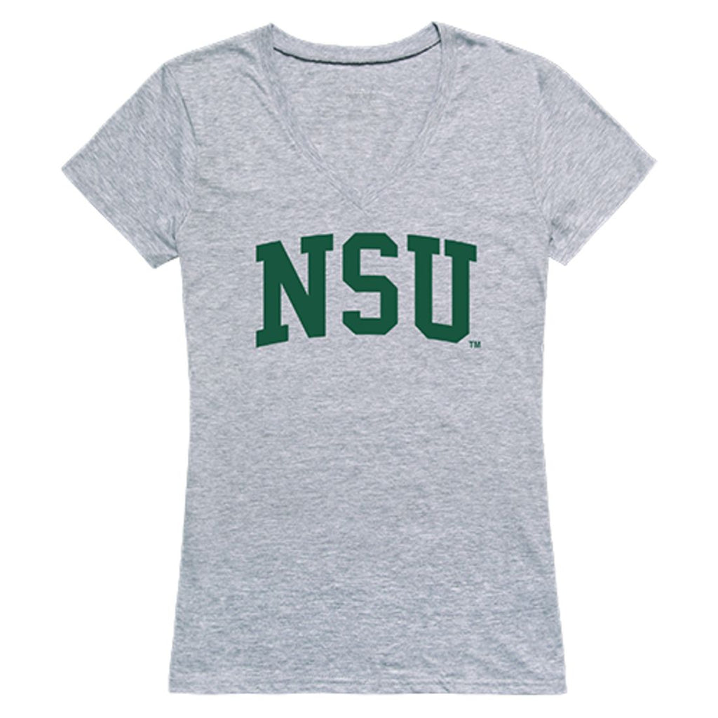 NSU Northeastern State University Game Day Womens T-Shirt Heather Grey
