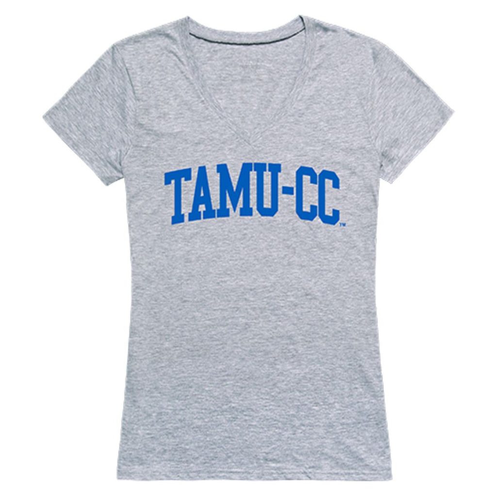 TAMUCC Texas A&M University Corpus Christi Game Day Womens T-Shirt Heather Grey