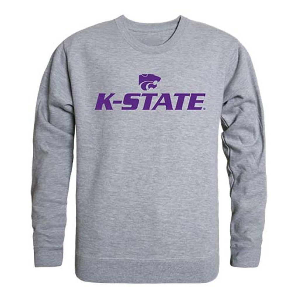 Kansas State University Wildcats Crewneck Pullover Sweatshirt Sweater Heather Grey