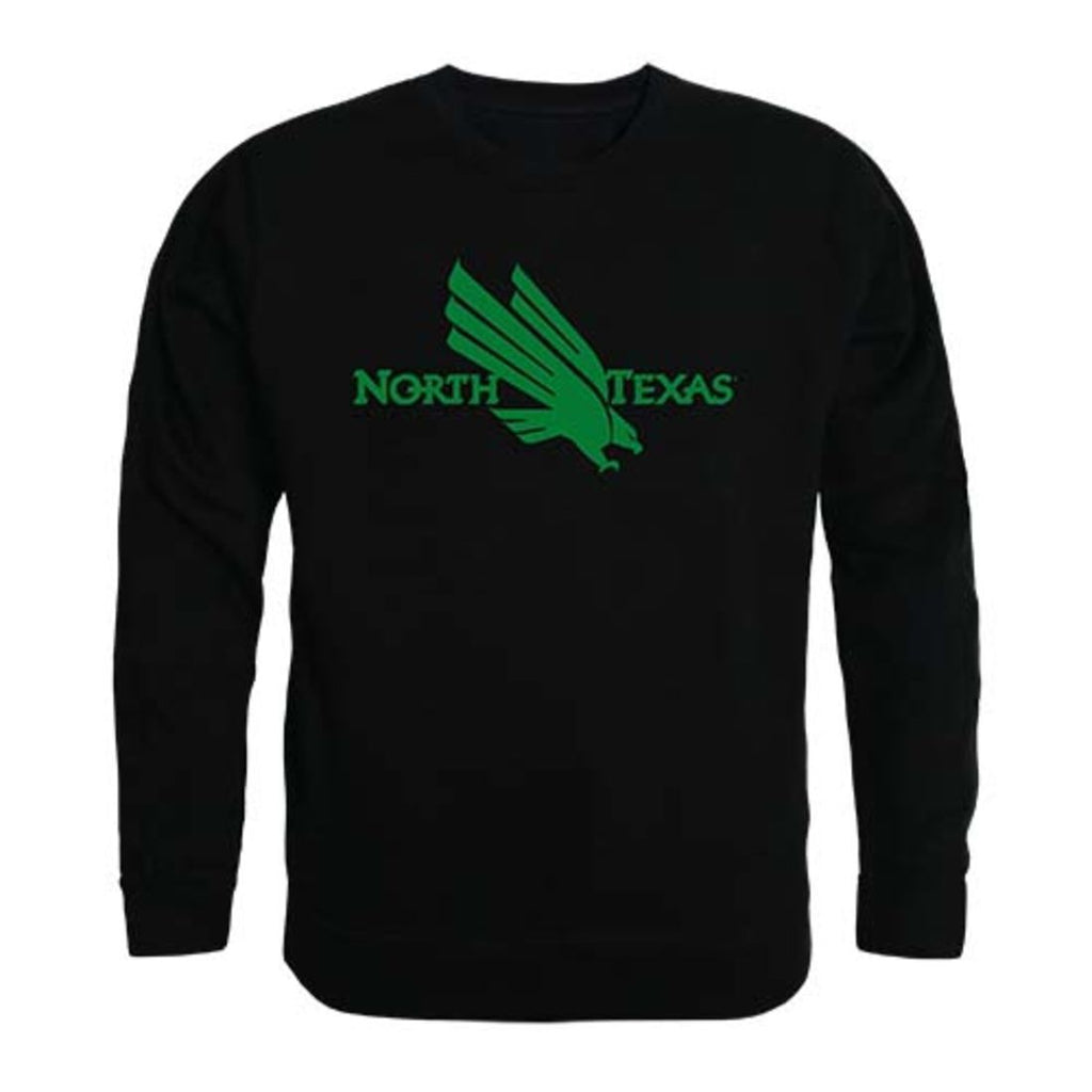 University of North Texas Mean Green Crewneck Pullover Sweatshirt Sweater Black