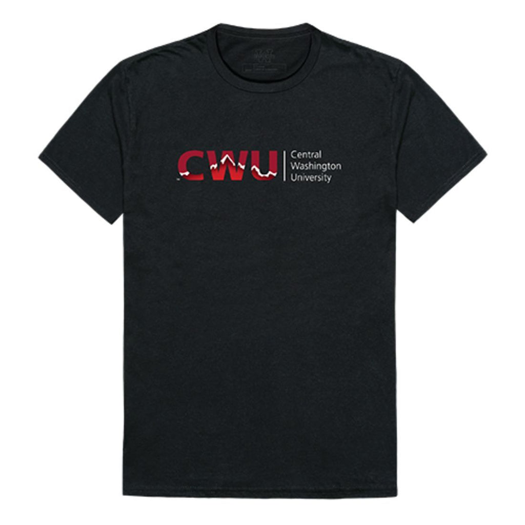 CWU Central Washington University Wildcats Institutional T-Shirt Black