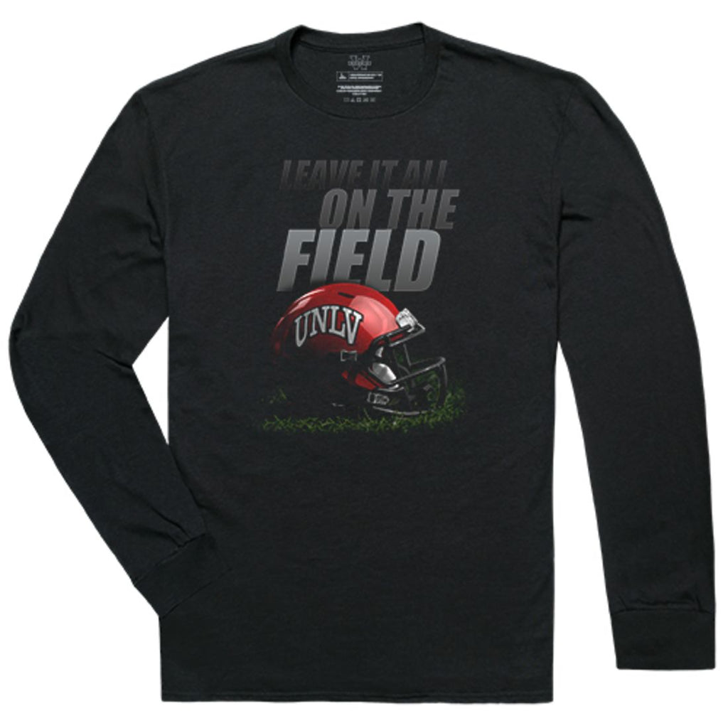 UNLV University of Nevada Las Vegas Rebels Football Gridiron Long Sleeve T-Shirt Black