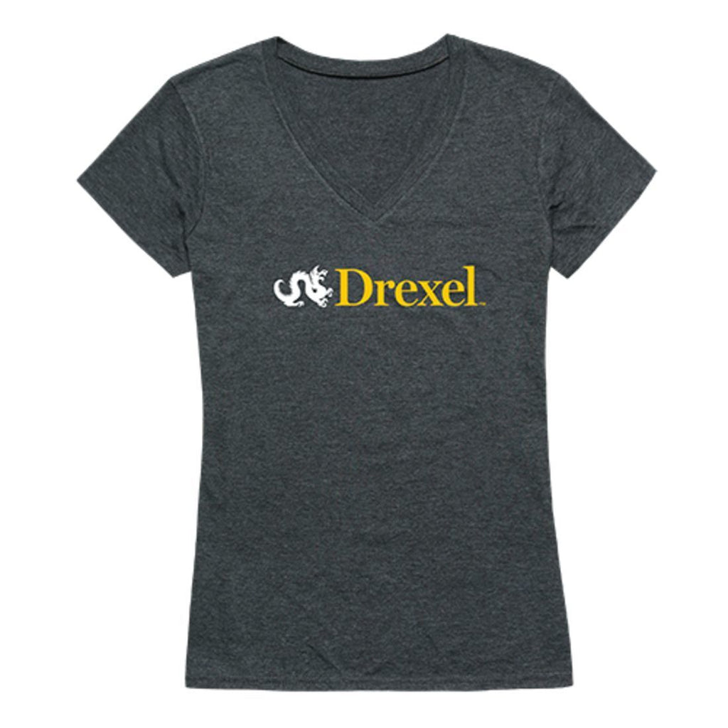 Drexel University Dragons  Womens Institutional Tee T-Shirt Heather Charcoal