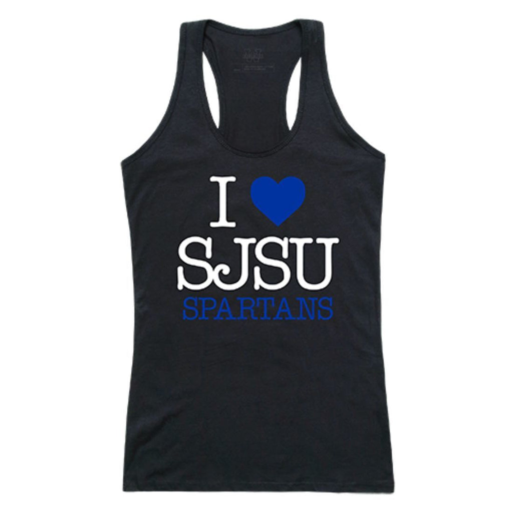 SJSU San Jose State University Spartans Womens Love Tank Top Tee T-Shirt Black