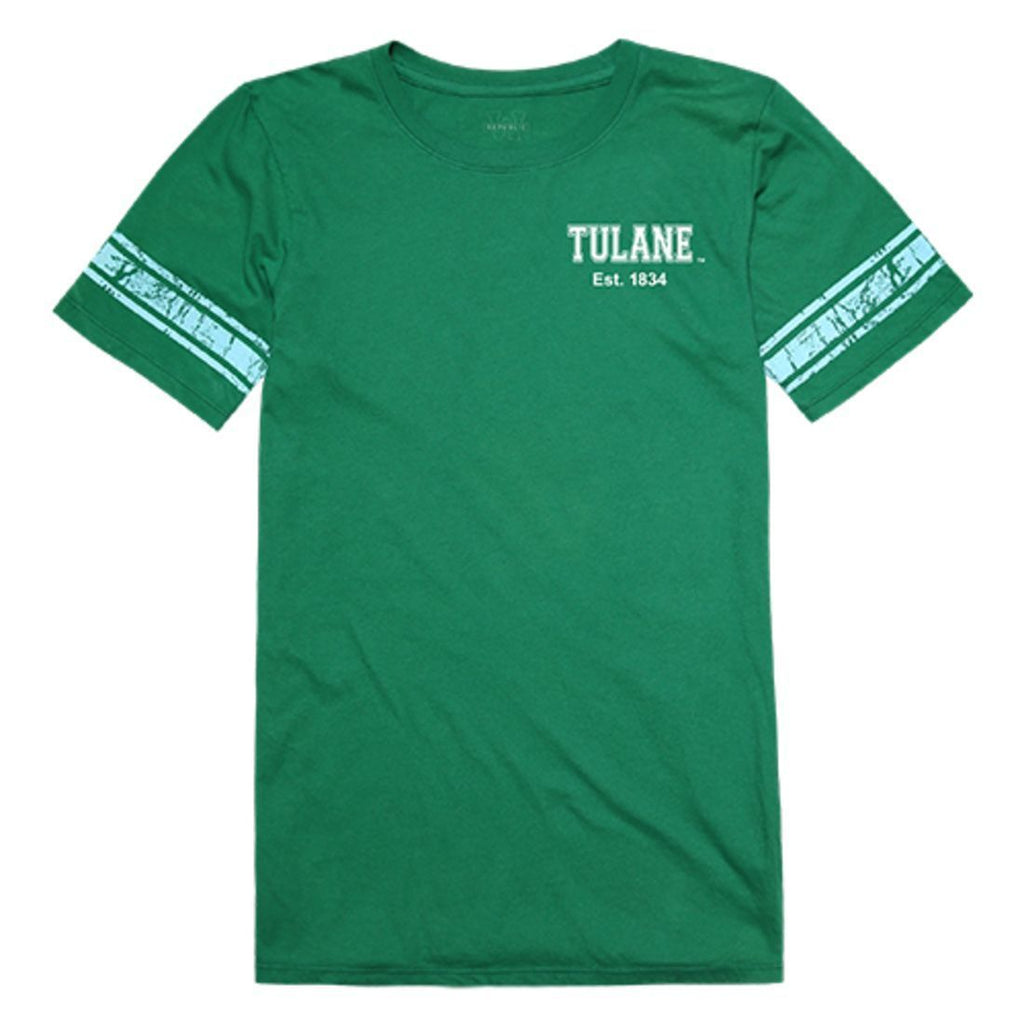 Tulane University Green Wave Womens Practice Tee T-Shirt Kelly