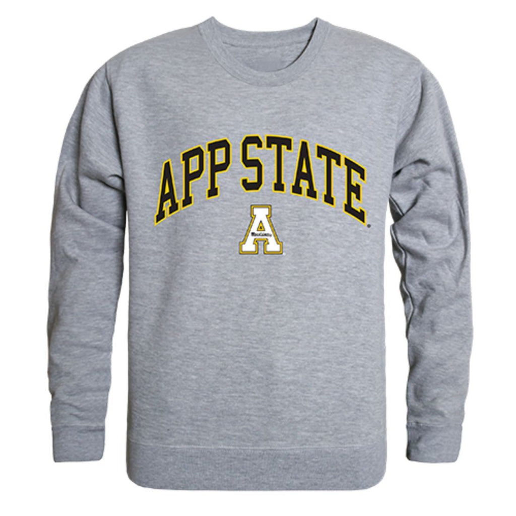 Appalachian App State University Campus Crewneck Pullover Sweatshirt Sweater Heather Grey