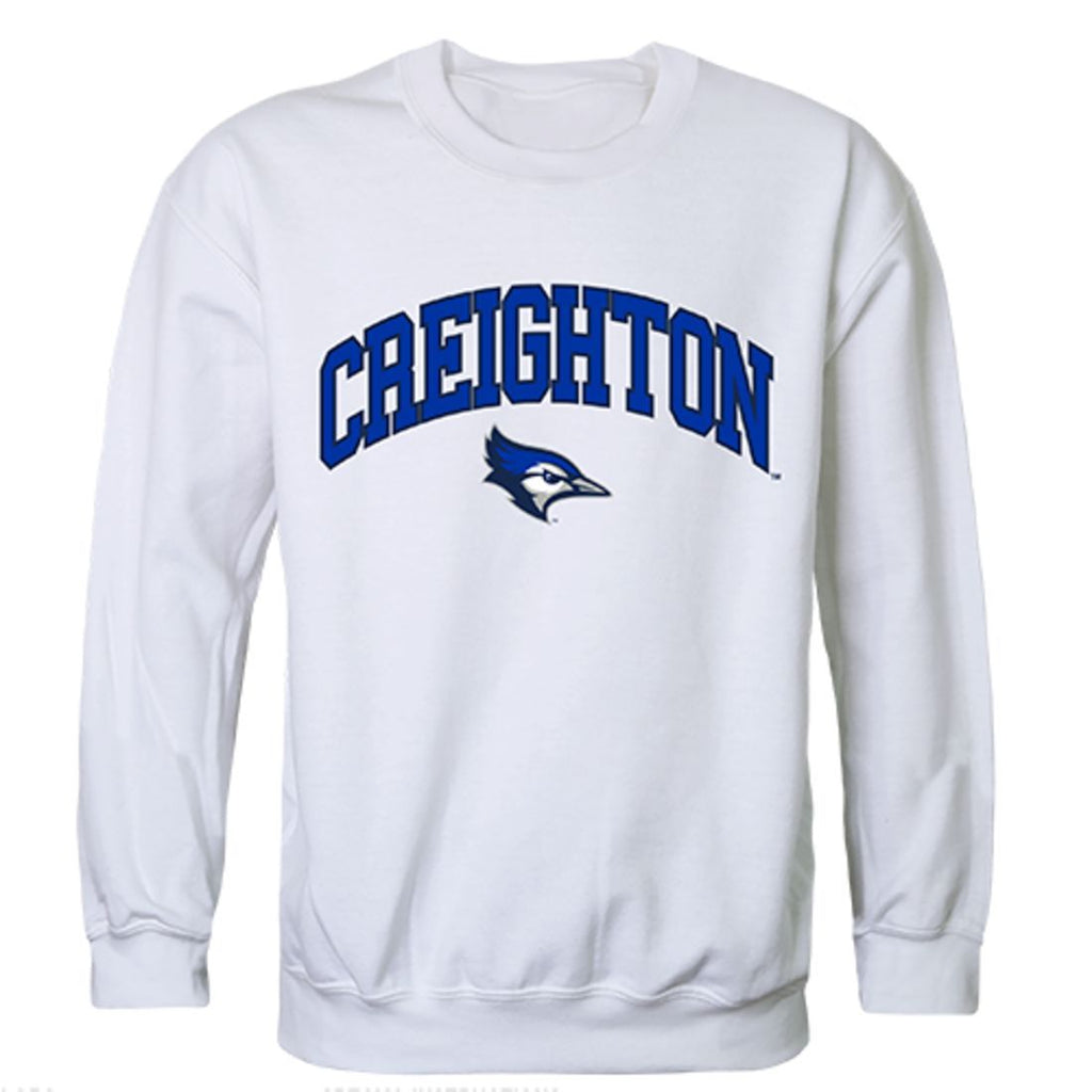Creighton University Campus Crewneck Pullover Sweatshirt Sweater White