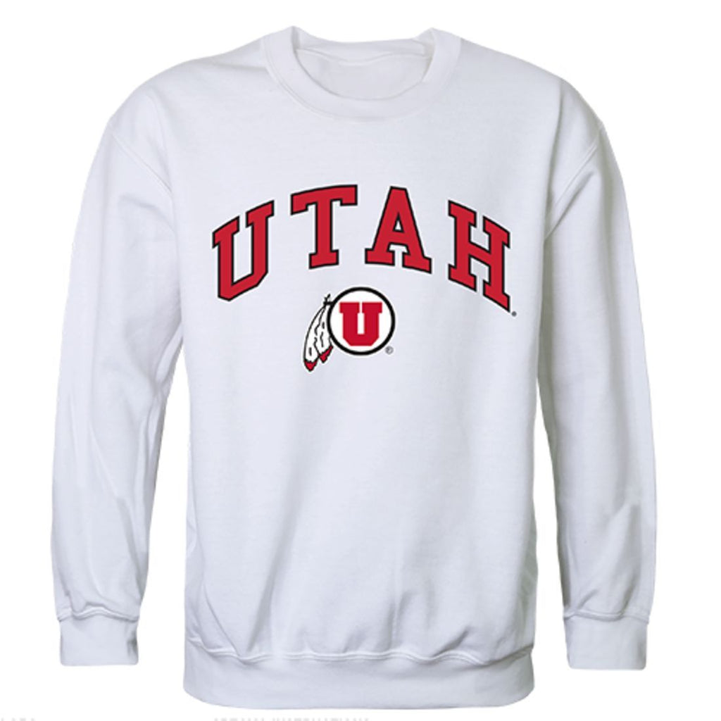 University of Utah Campus Crewneck Pullover Sweatshirt Sweater White