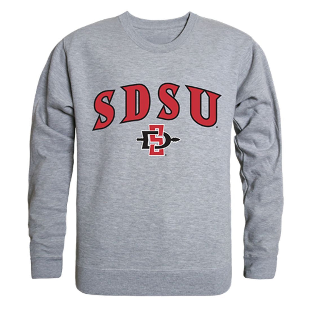 SDSU San Diego State University Campus Crewneck Pullover Sweatshirt Sweater Heather Grey