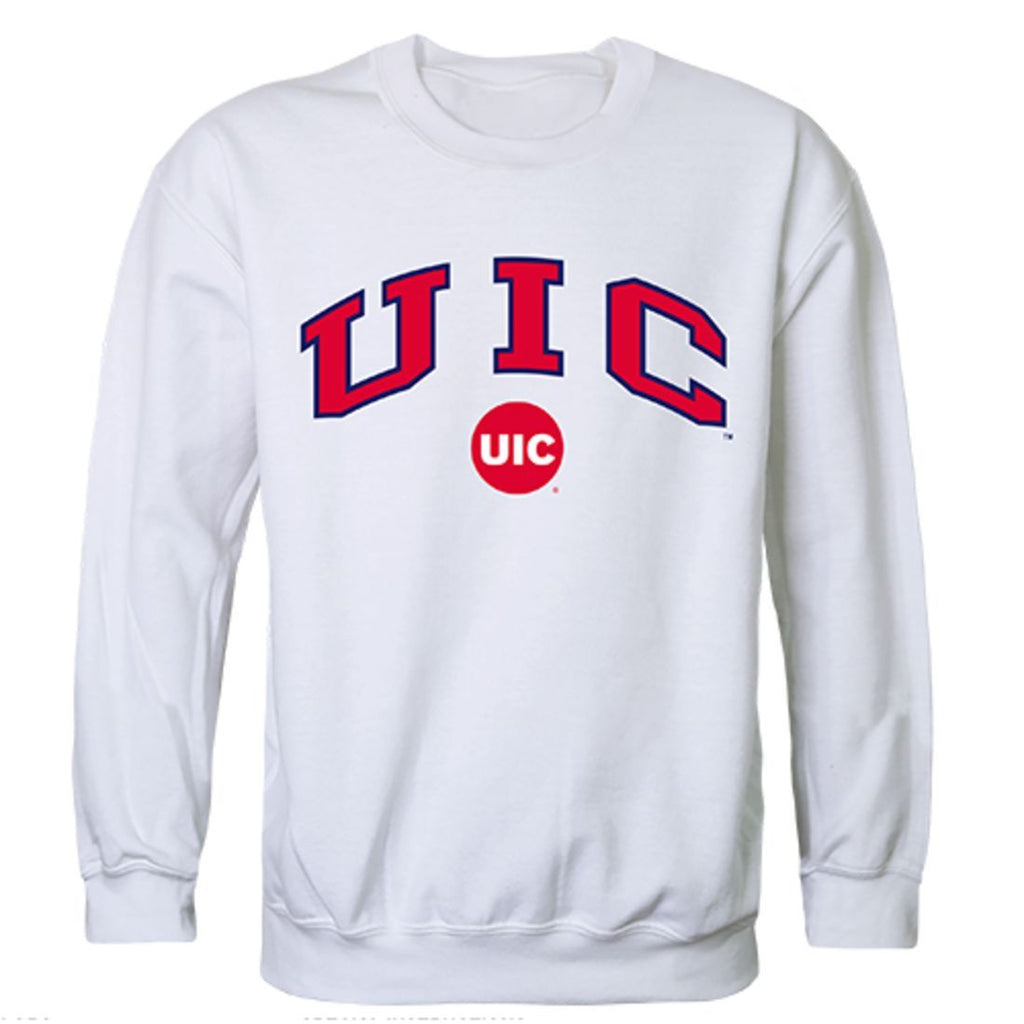 UIC University of Illinois at Chicago Campus Crewneck Pullover Sweatshirt Sweater White