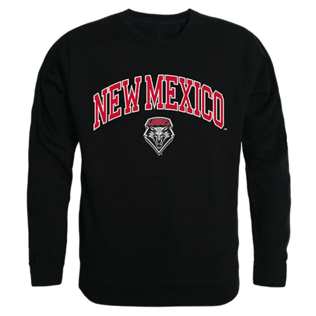 UNM University of New Mexico Campus Crewneck Pullover Sweatshirt Sweater Black
