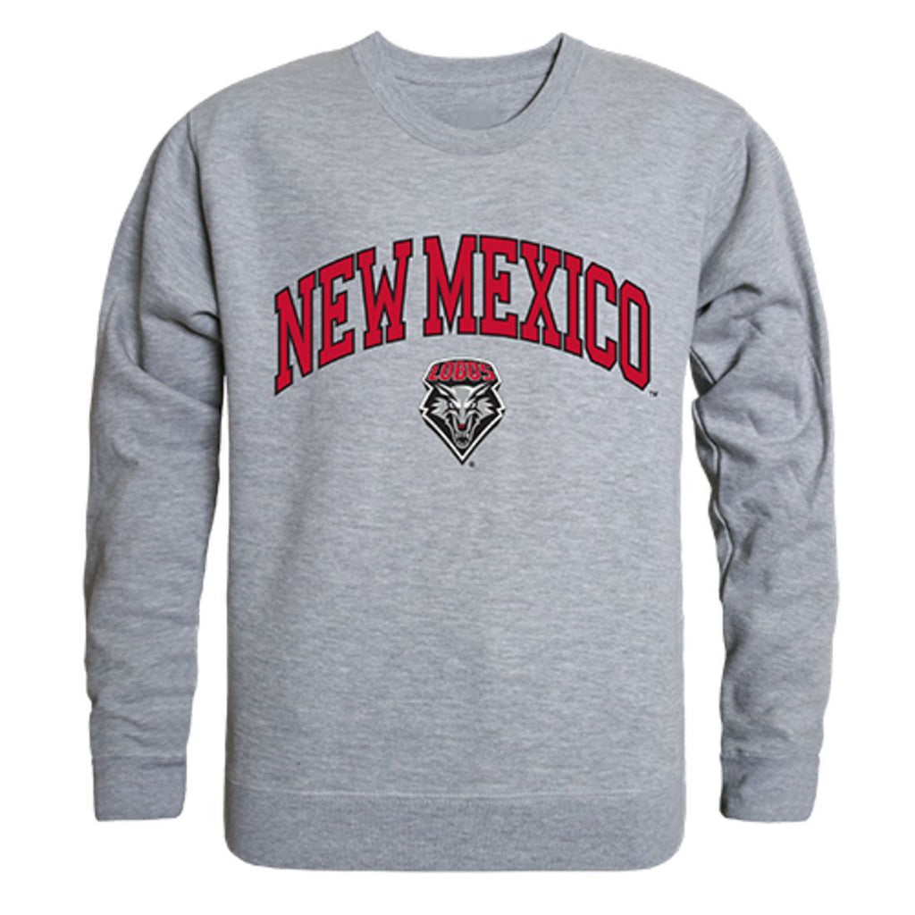 UNM University of New Mexico Campus Crewneck Pullover Sweatshirt Sweater Heather Grey