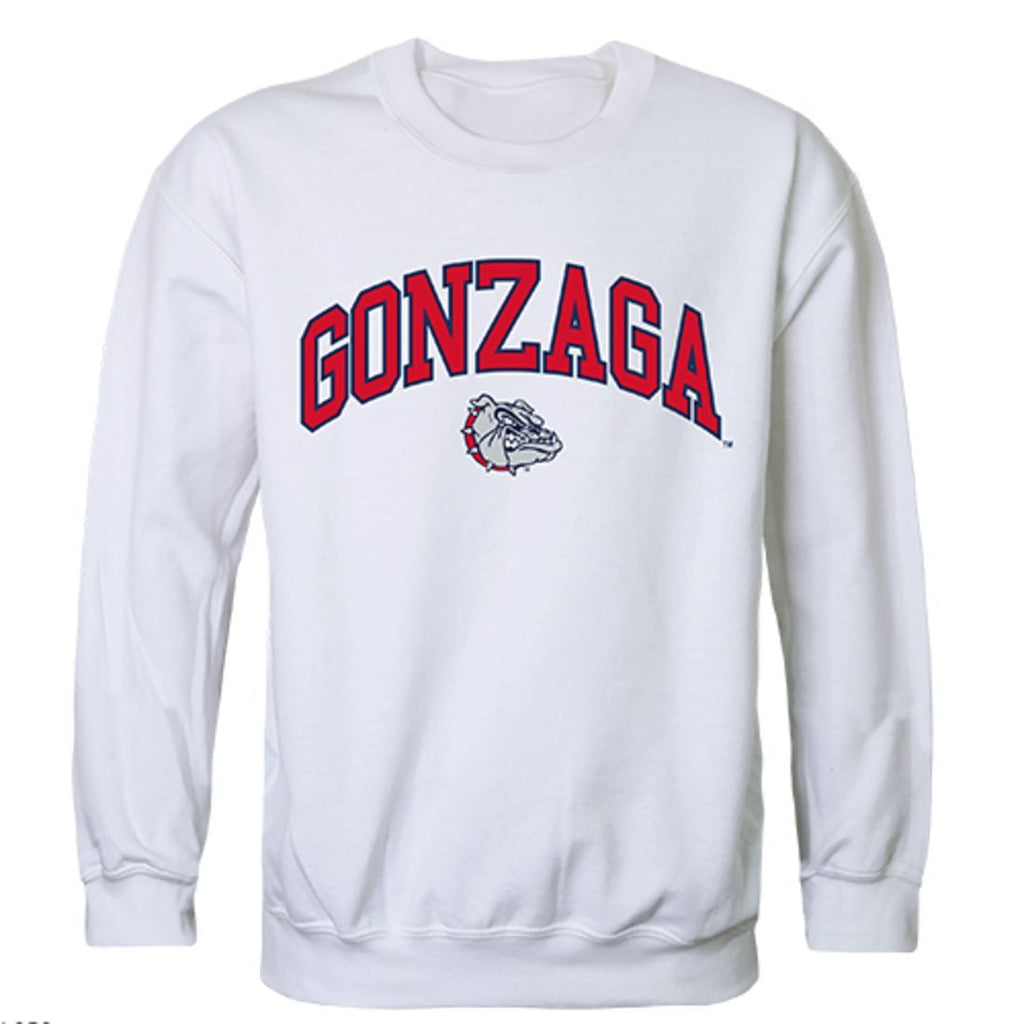 Gonzaga University Campus Crewneck Pullover Sweatshirt Sweater White
