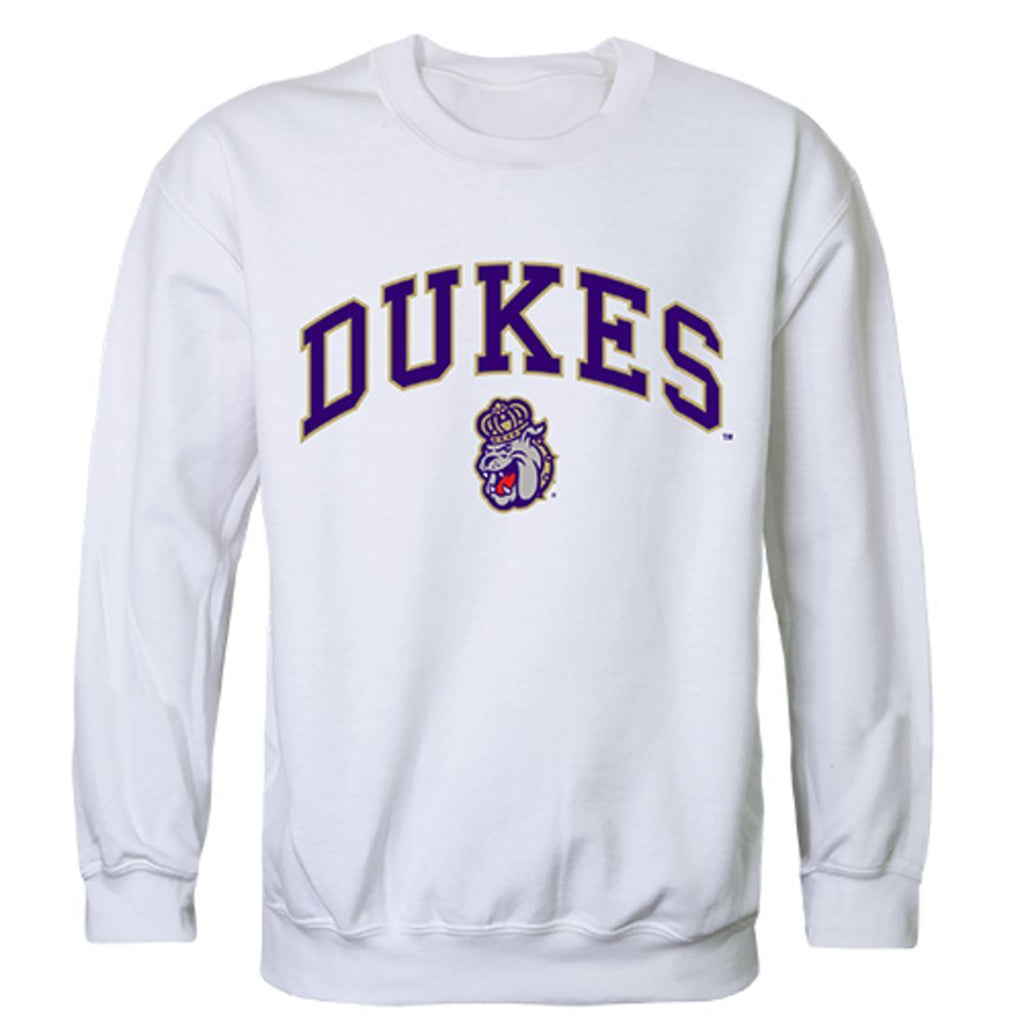 JMU James Madison University Campus Crewneck Pullover Sweatshirt Sweater White