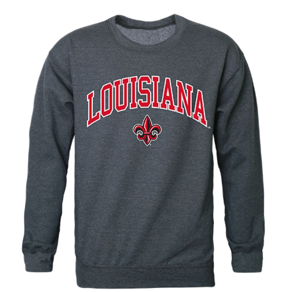 UL University of Louisiana at Lafayette Campus Crewneck Pullover Sweatshirt Sweater Heather Charcoal