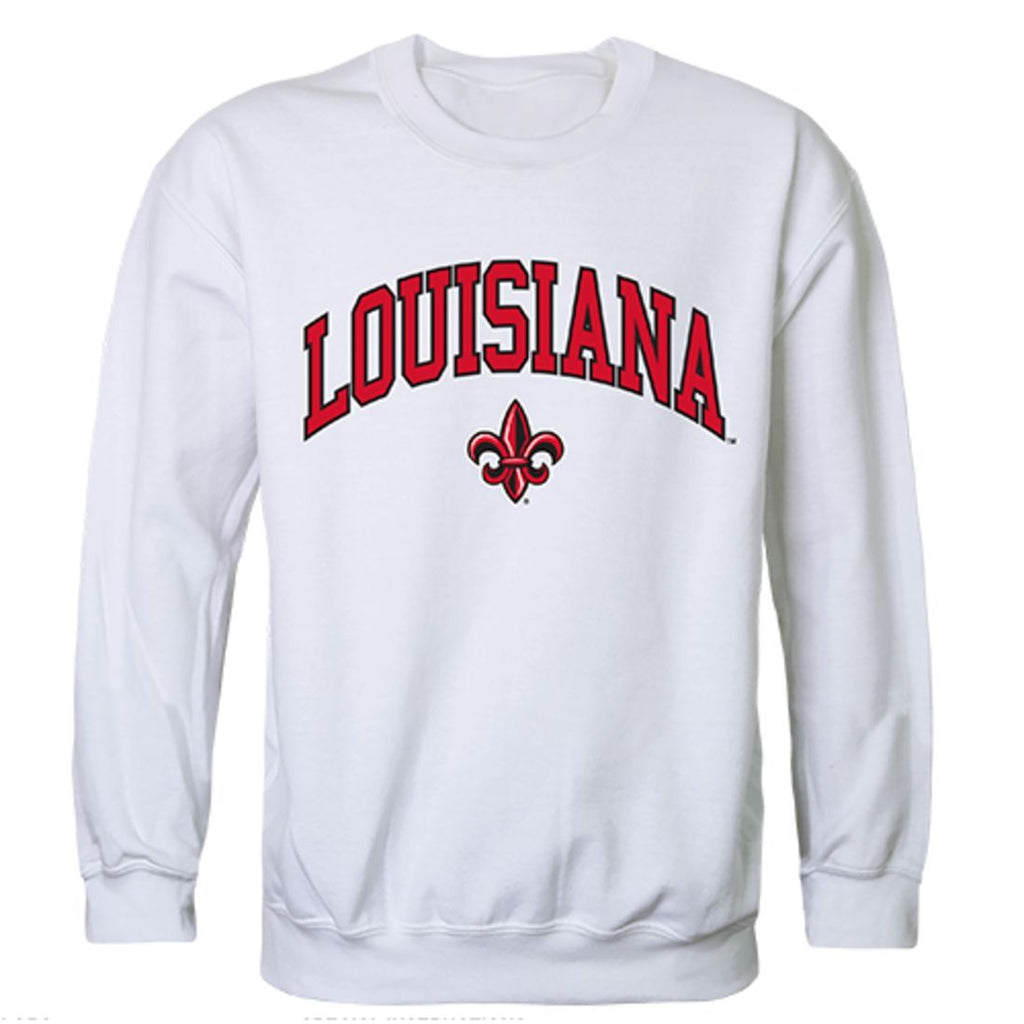UL University of Louisiana at Lafayette Campus Crewneck Pullover Sweatshirt Sweater White