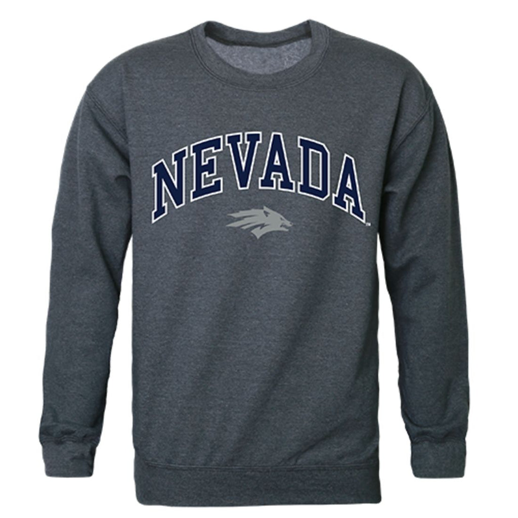 University of Nevada Campus Crewneck Pullover Sweatshirt Sweater Heather Charcoal