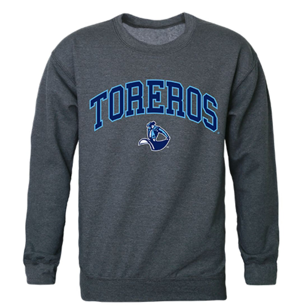 USD University of San Diego Campus Crewneck Pullover Sweatshirt Sweater Heather Charcoal