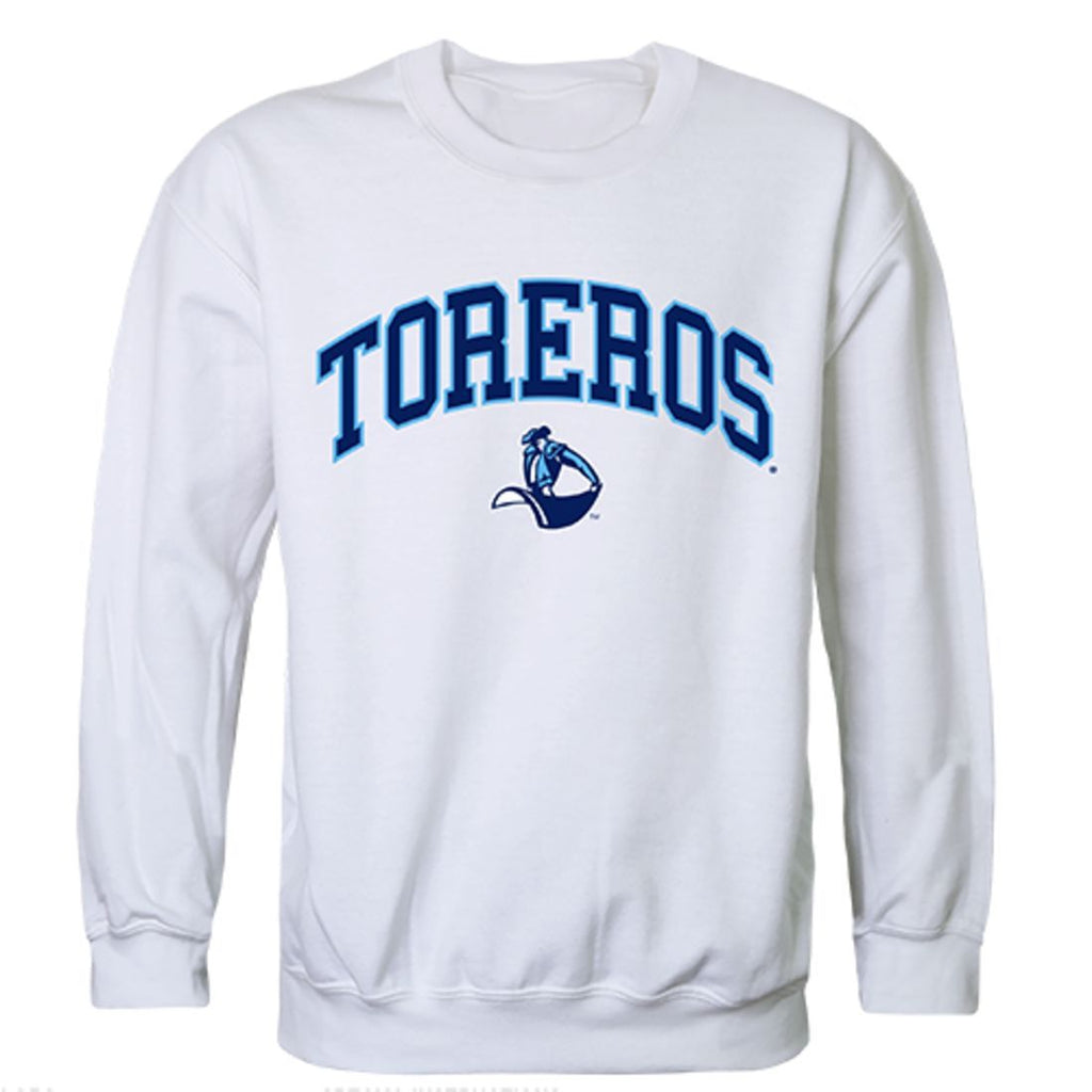 USD University of San Diego Campus Crewneck Pullover Sweatshirt Sweater White