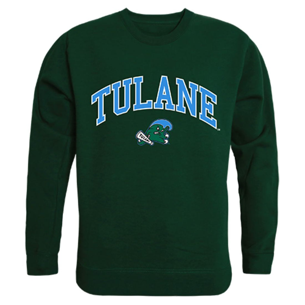 Tulane University Campus Crewneck Pullover Sweatshirt Sweater Forest