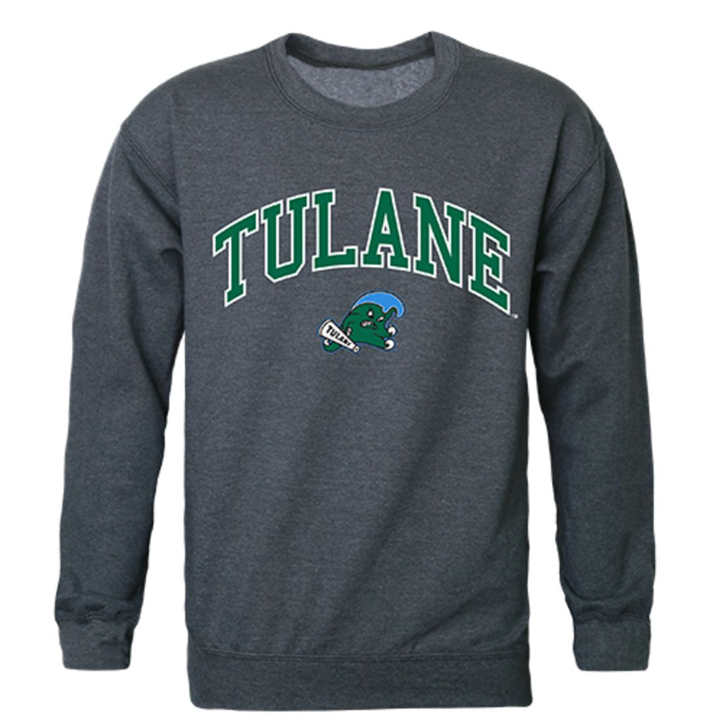 Tulane University Campus Crewneck Pullover Sweatshirt Sweater Heather Charcoal