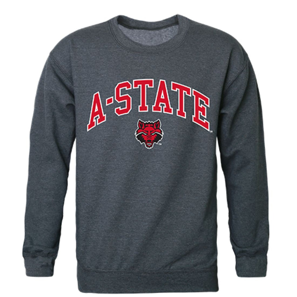 Arkansas State University A-State Campus Crewneck Pullover Sweatshirt Sweater Heather Charcoal