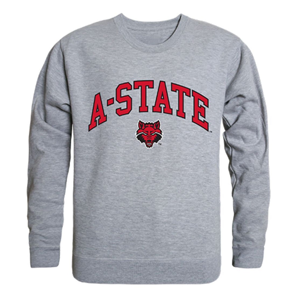 Arkansas State University A-State Campus Crewneck Pullover Sweatshirt Sweater Heather Grey