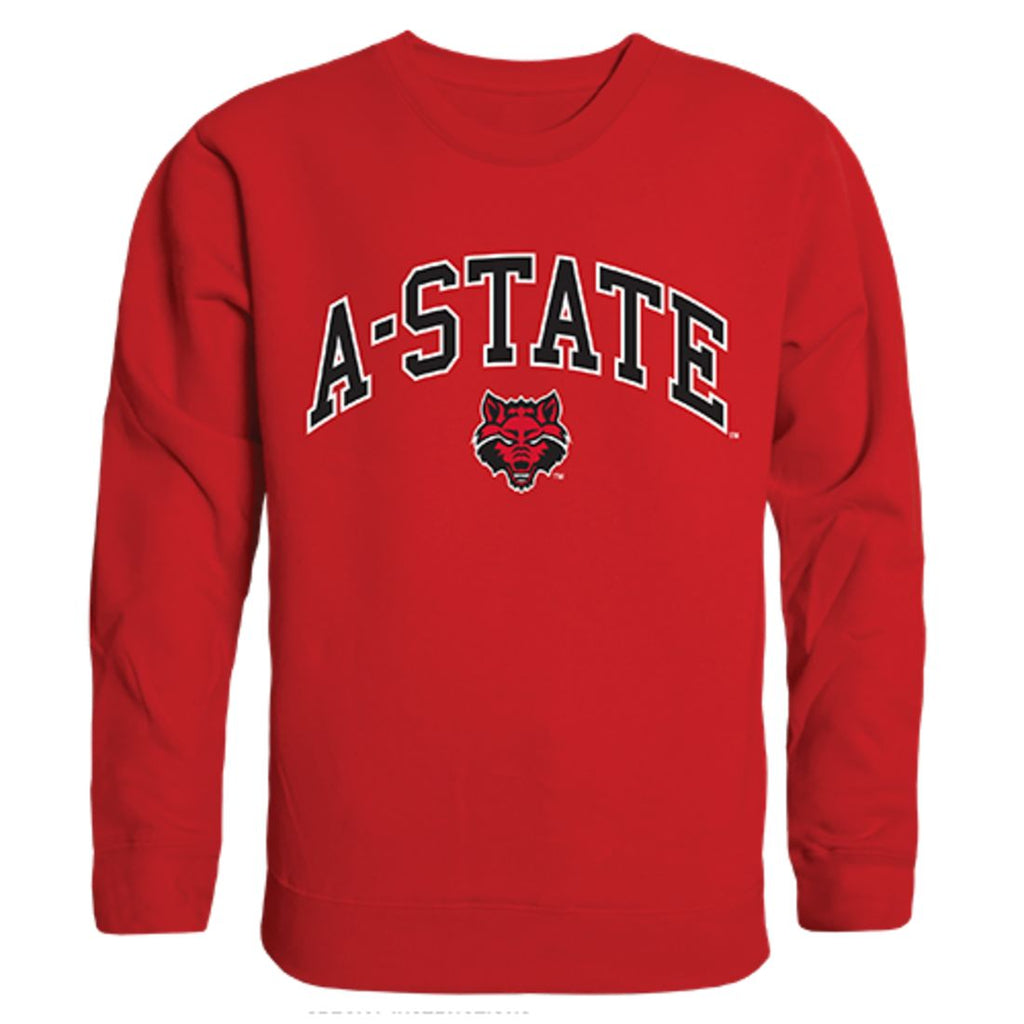 Arkansas State University A-State Campus Crewneck Pullover Sweatshirt Sweater Red