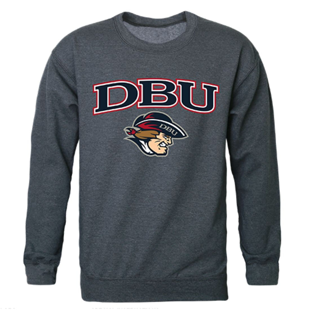 DBU Dallas Baptist University Campus Crewneck Pullover Sweatshirt Sweater Heather Charcoal