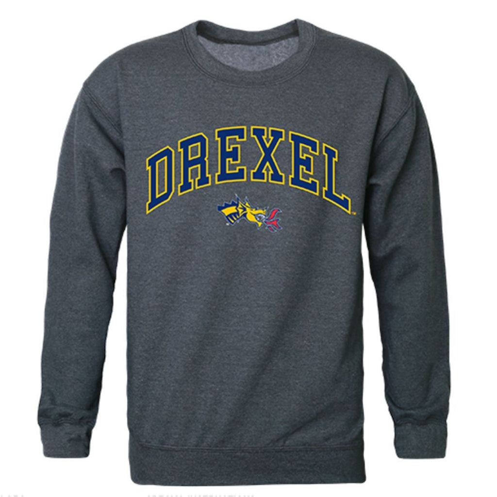 Drexel University Campus Crewneck Pullover Sweatshirt Sweater Heather Charcoal