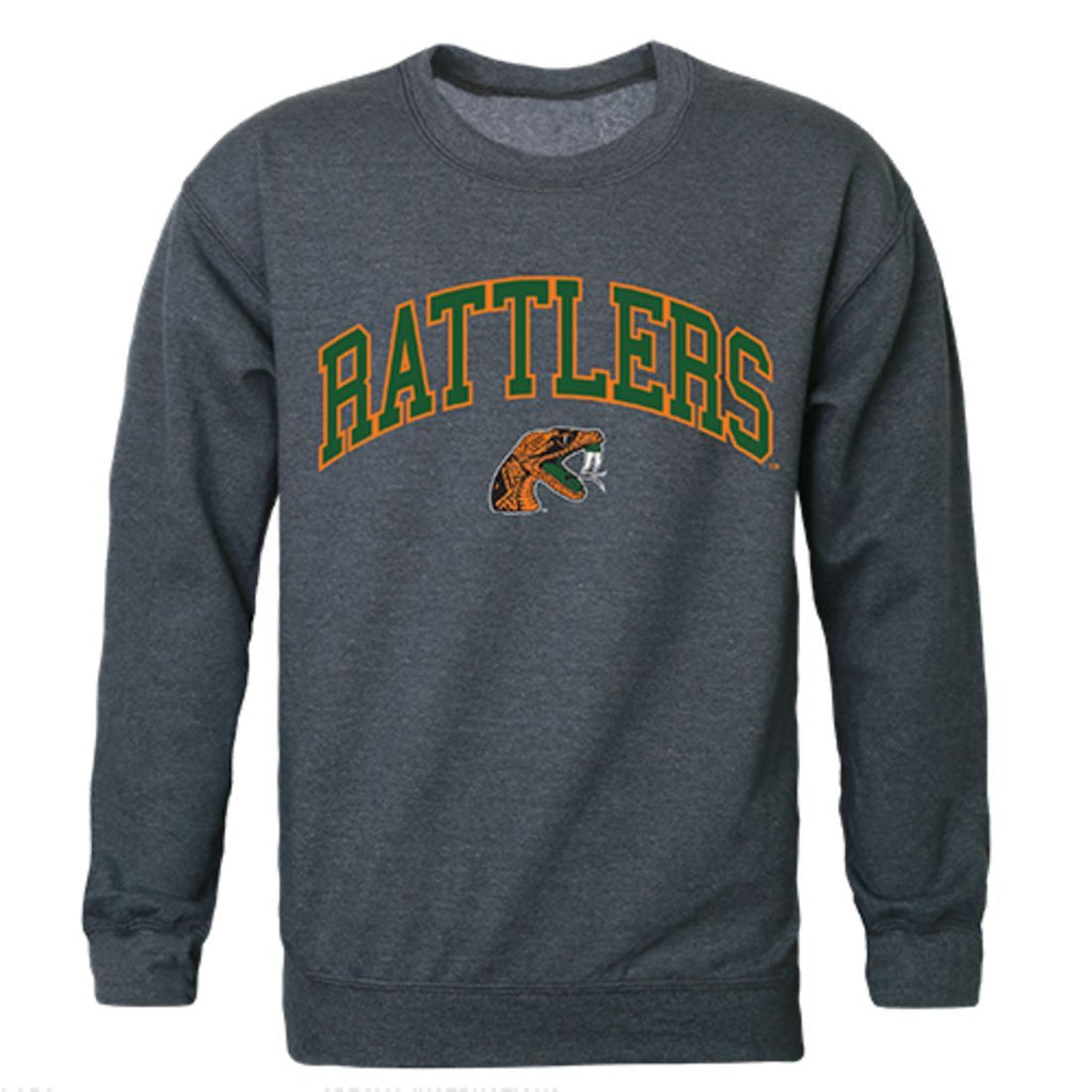FAMU Florida A&M University Campus Crewneck Pullover Sweatshirt Sweater Heather Charcoal