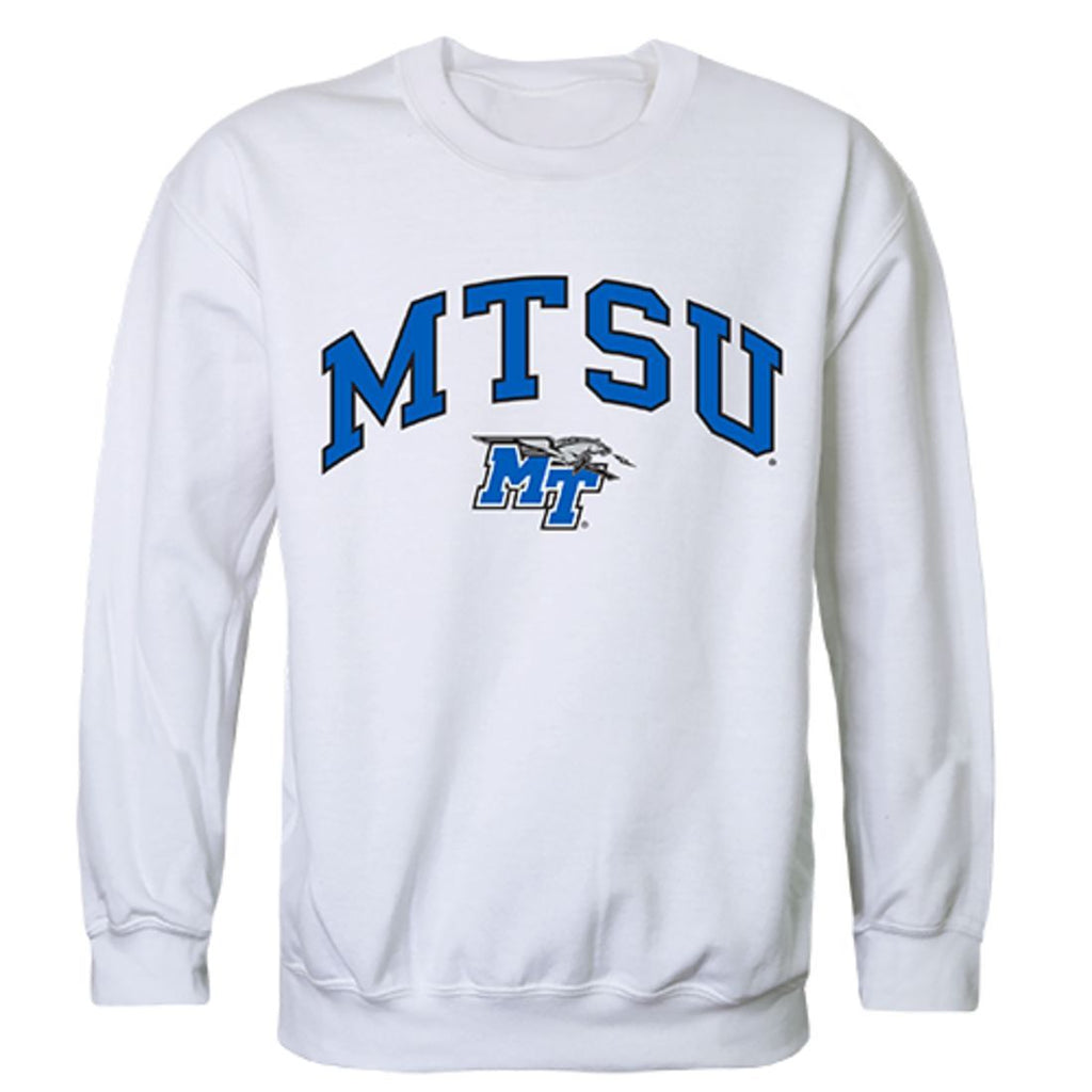 MTSU Middle Tennessee State University Campus Crewneck Pullover Sweatshirt Sweater White