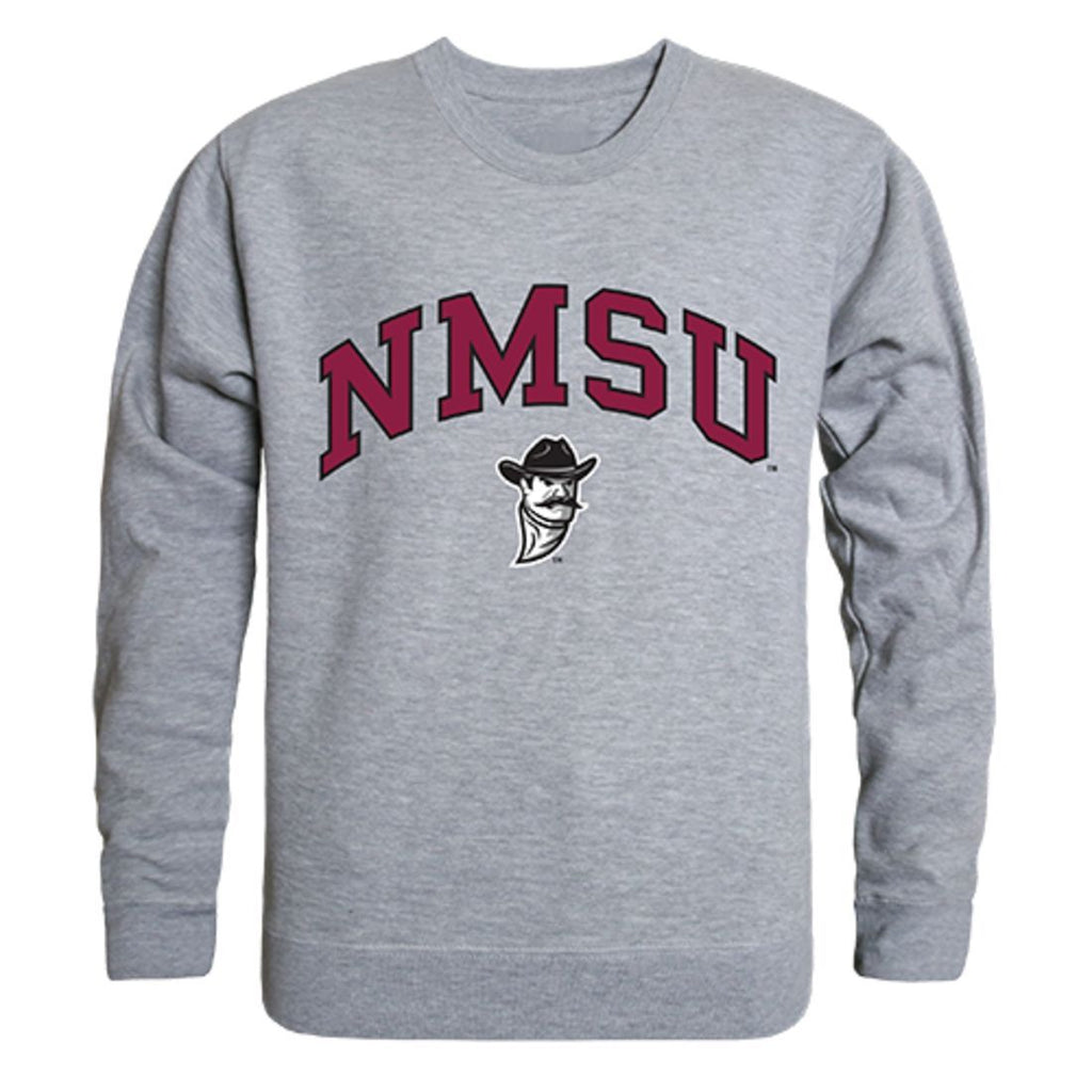 NMSU New Mexico State University Campus Crewneck Pullover Sweatshirt Sweater Heather Grey