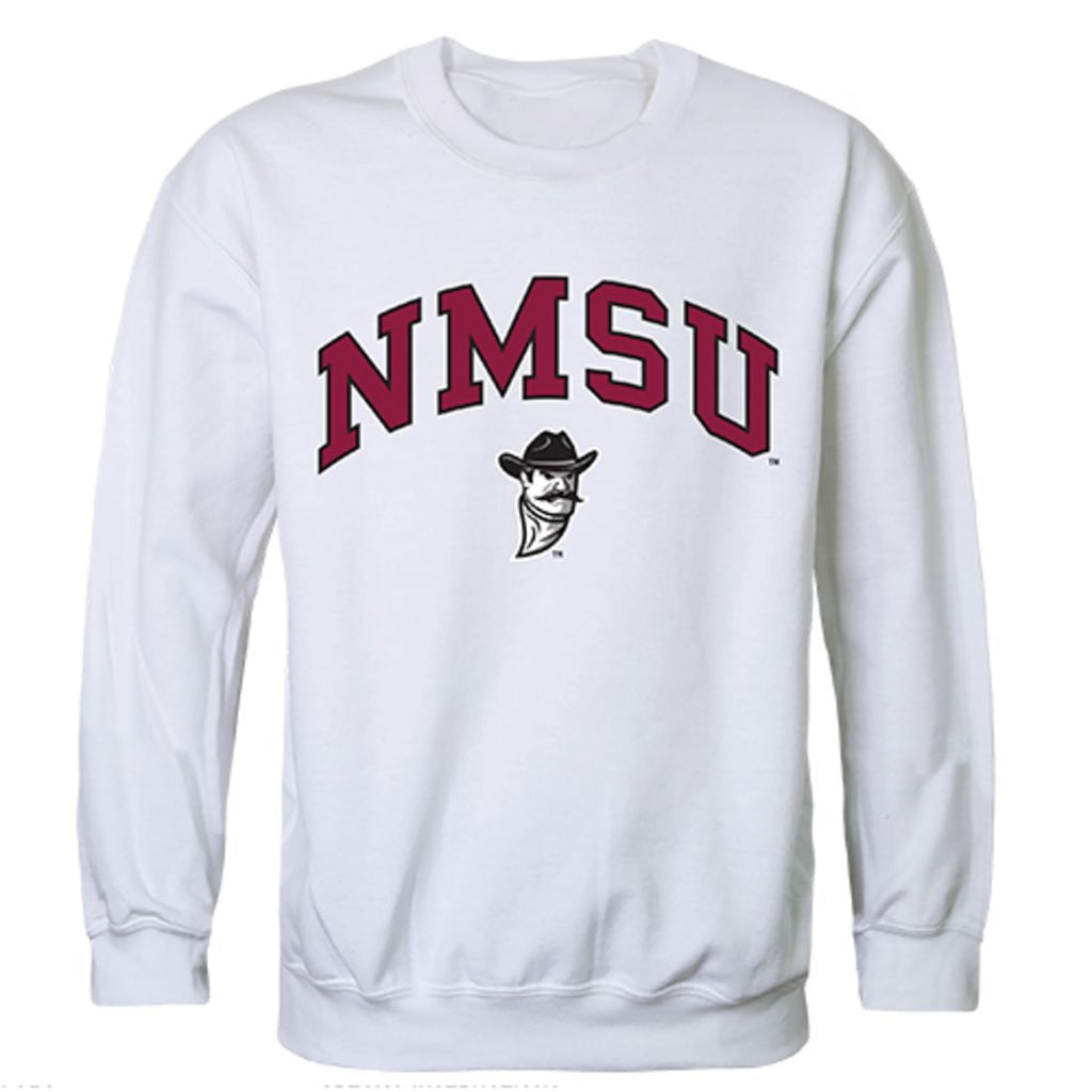 NMSU New Mexico State University Campus Crewneck Pullover Sweatshirt Sweater White