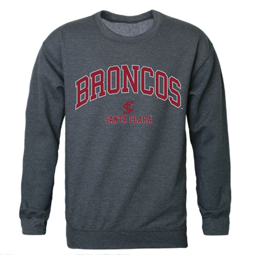 SCU Santa Clara University Campus Crewneck Pullover Sweatshirt Sweater Heather Charcoal