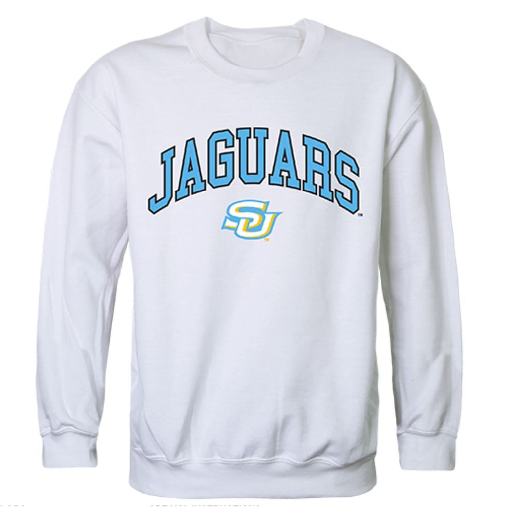 Southern University Campus Crewneck Pullover Sweatshirt Sweater White