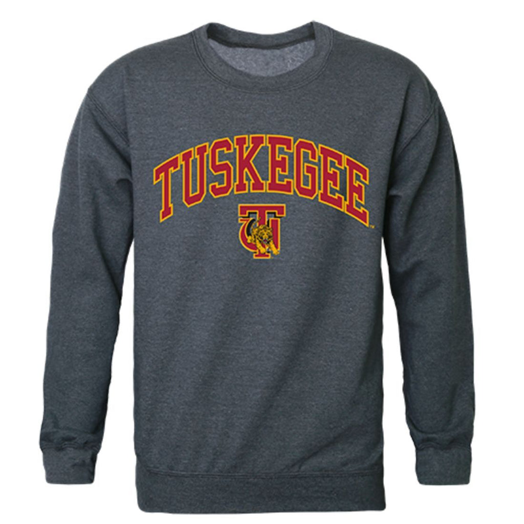 Tuskegee University Golden Campus Crewneck Pullover Sweatshirt Sweater Heather Charcoal