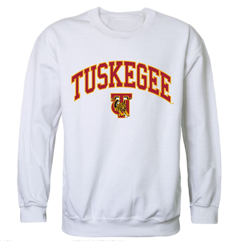 Tuskegee University Golden Campus Crewneck Pullover Sweatshirt Sweater White