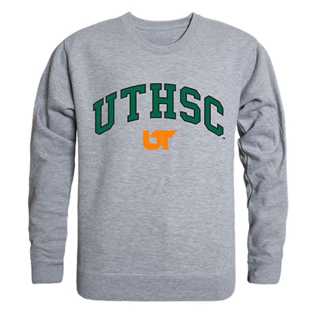 UTHSC University of Tennessee Health Science Center  Campus Crewneck Pullover Sweatshirt Sweater Heather Grey