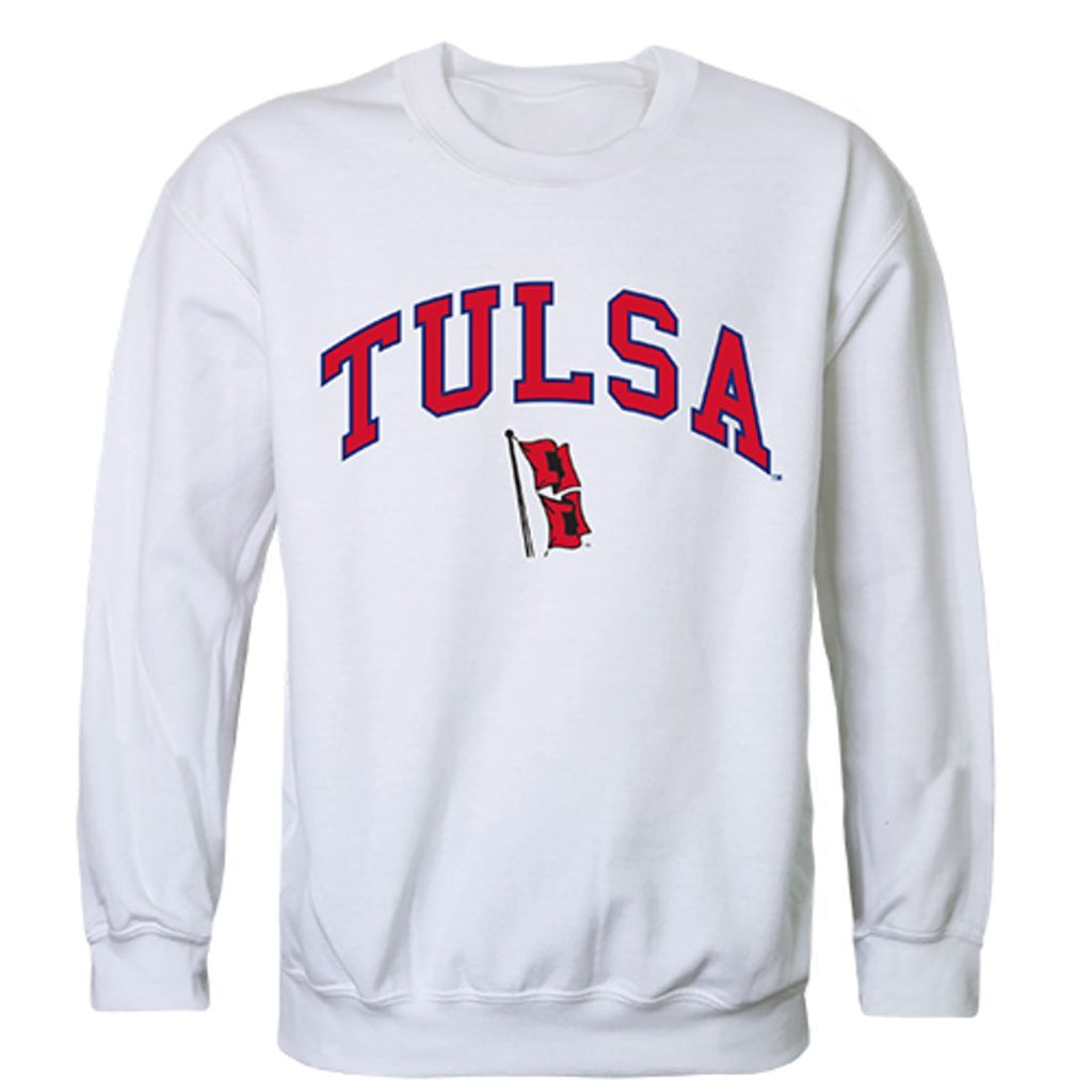 University of Tulsa Golden Campus Crewneck Pullover Sweatshirt Sweater White