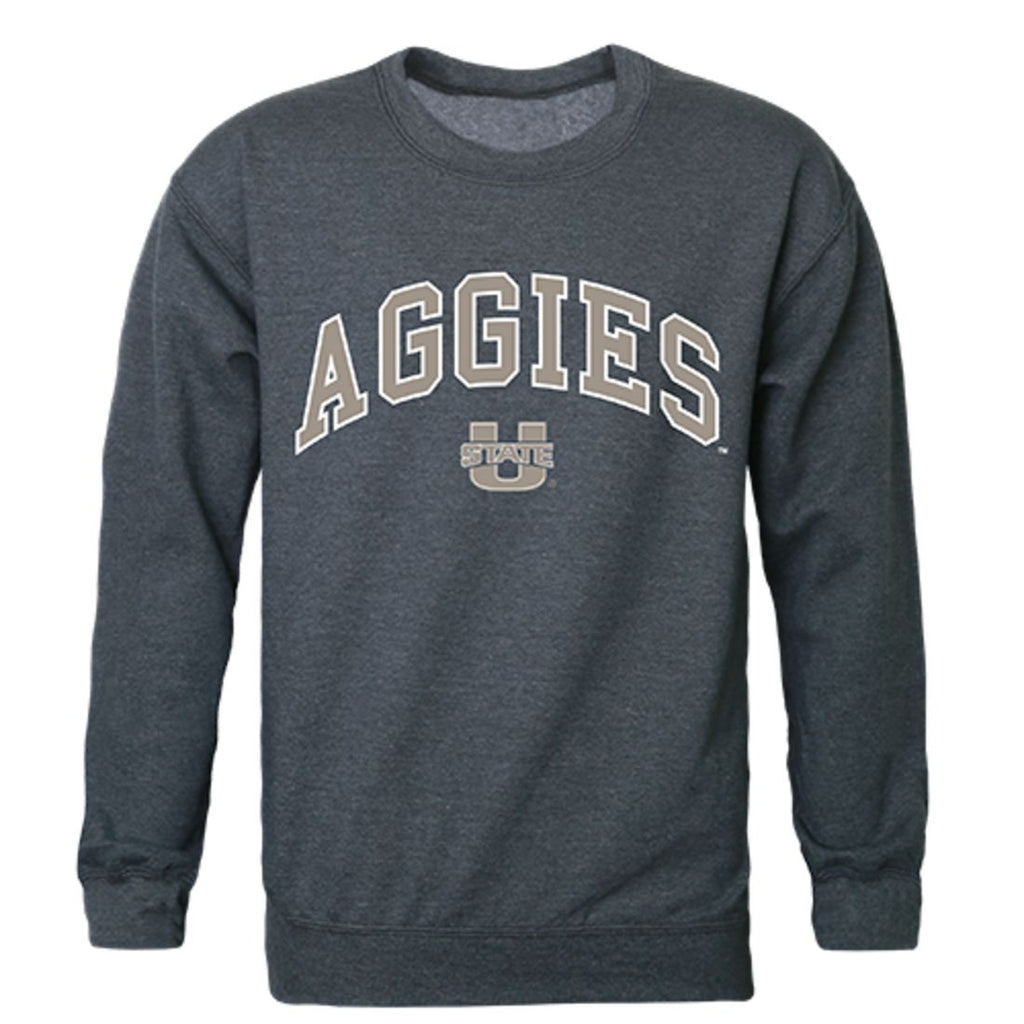 Utah State University Campus Crewneck Pullover Sweatshirt Sweater Heather Charcoal