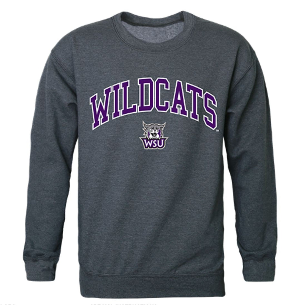 Weber State University Campus Crewneck Pullover Sweatshirt Sweater Heather Charcoal