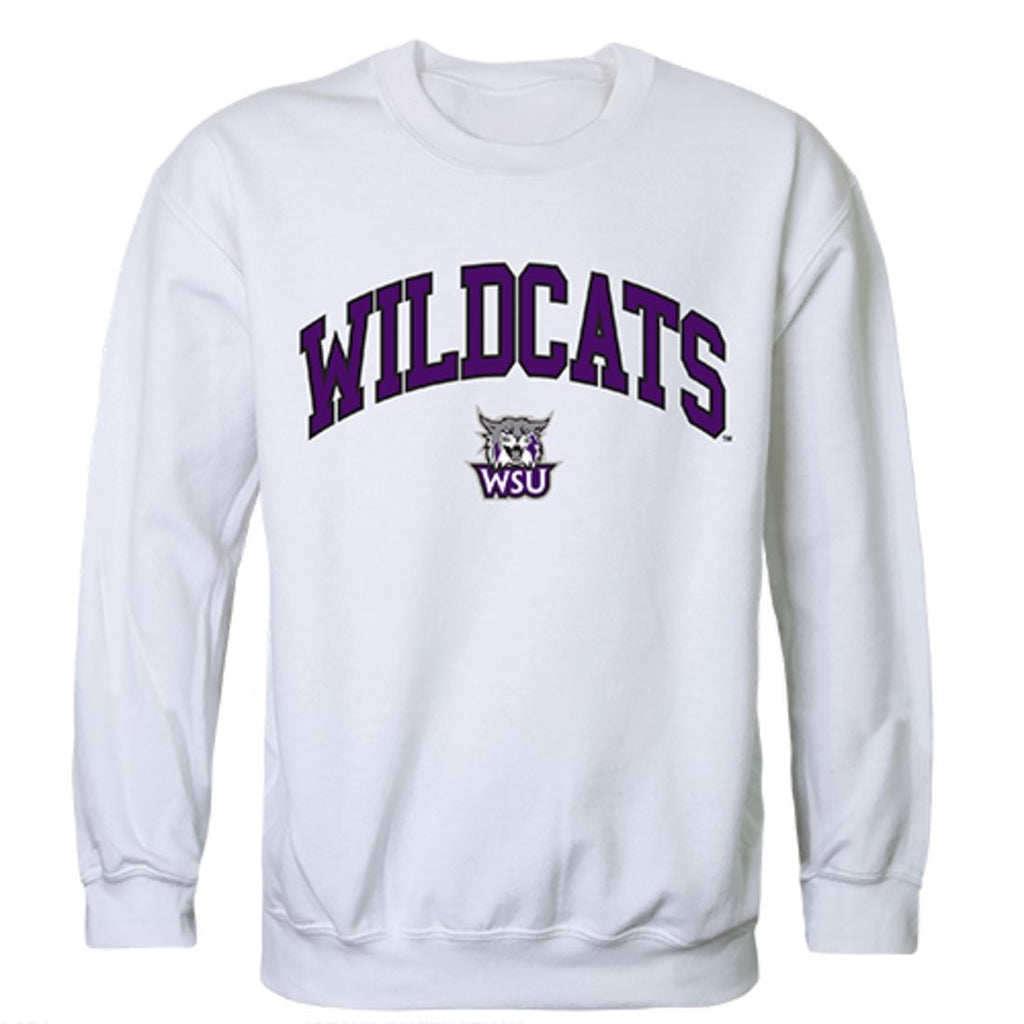 Weber State University Campus Crewneck Pullover Sweatshirt Sweater White