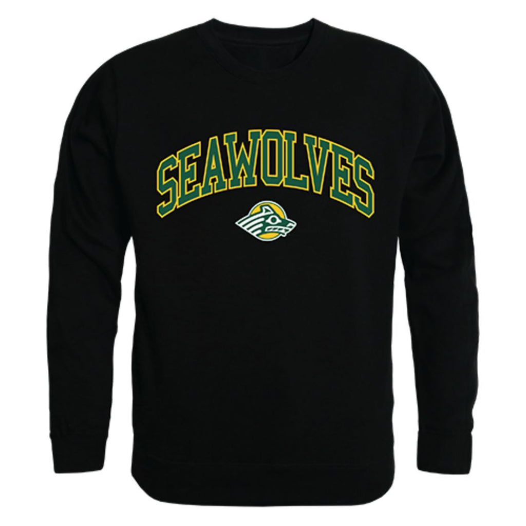 UAA University of Alaska Anchorage Campus Crewneck Pullover Sweatshirt Sweater Black
