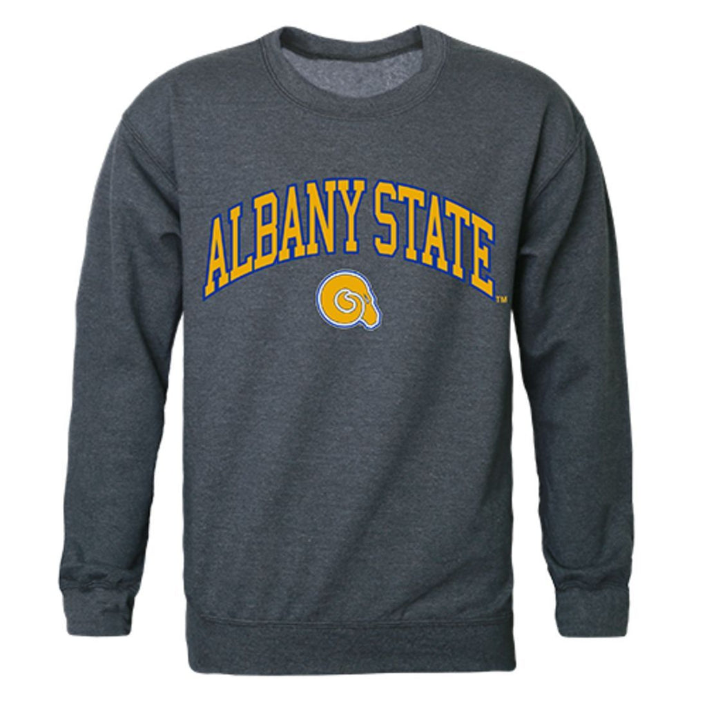 ASU Albany State University Campus Crewneck Pullover Sweatshirt Sweater Heather Charcoal